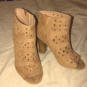 Torrid Open Toed Booties Boots Shoes size 10
